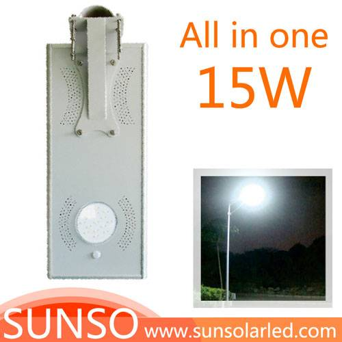 15W Integrated solar powered LED Wall mounted, Park, Villa, Village light with motion sensor functio