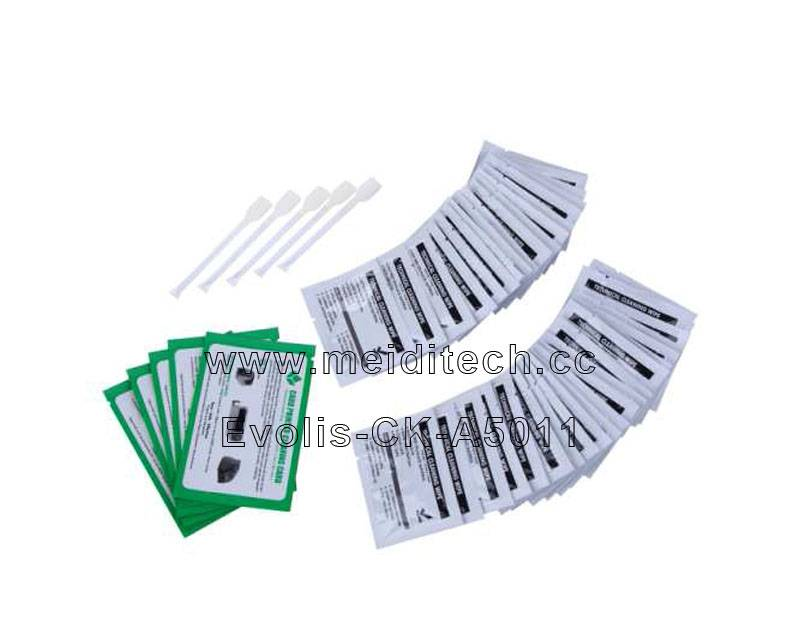 Evolis A5011 Compatible Cleaning Kit/swabs/wipes