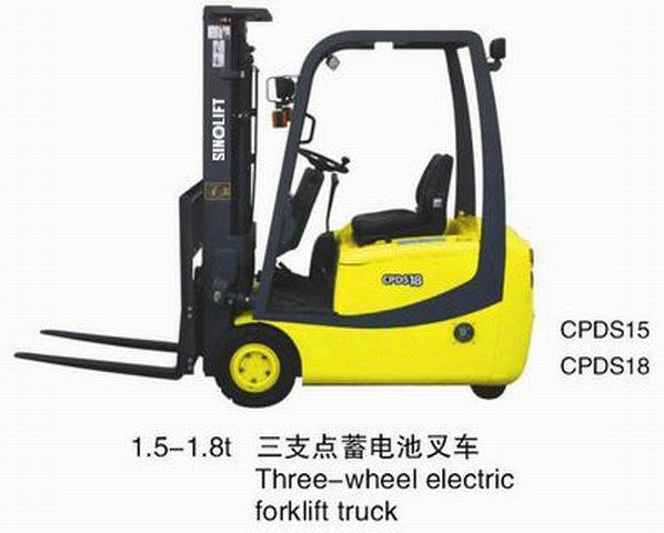 1-3T battery operated forklift