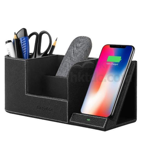 EasyAcc Qi wireless charger, wireless Charger with Desk Organizer, 10W fast wireless battery charger