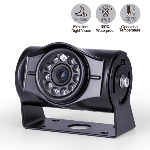 120-Degree Backup Camera with 9 Infrared LED Lights
