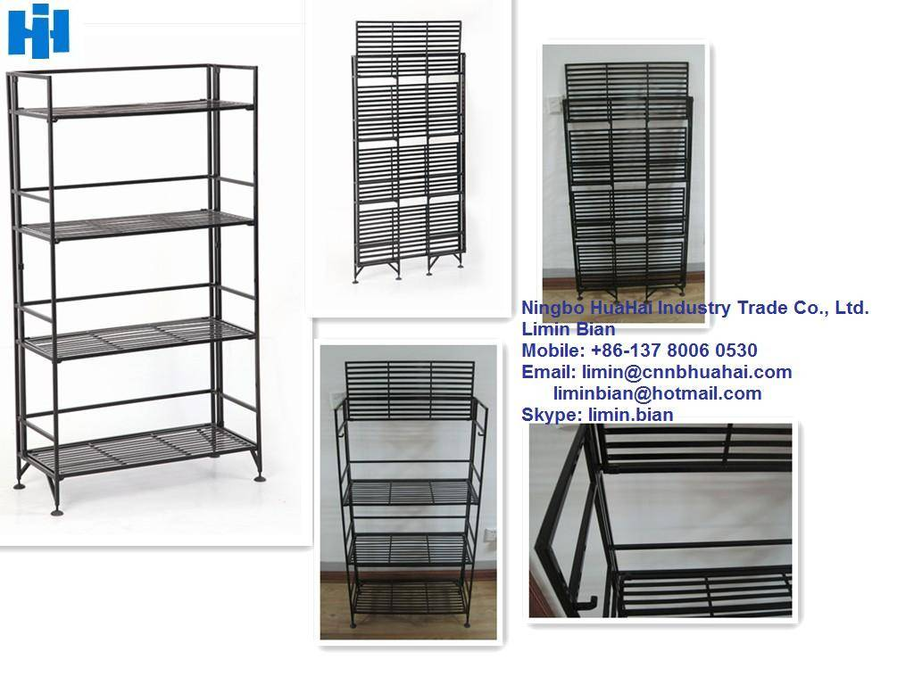 foldable display shelf for bathroom use
