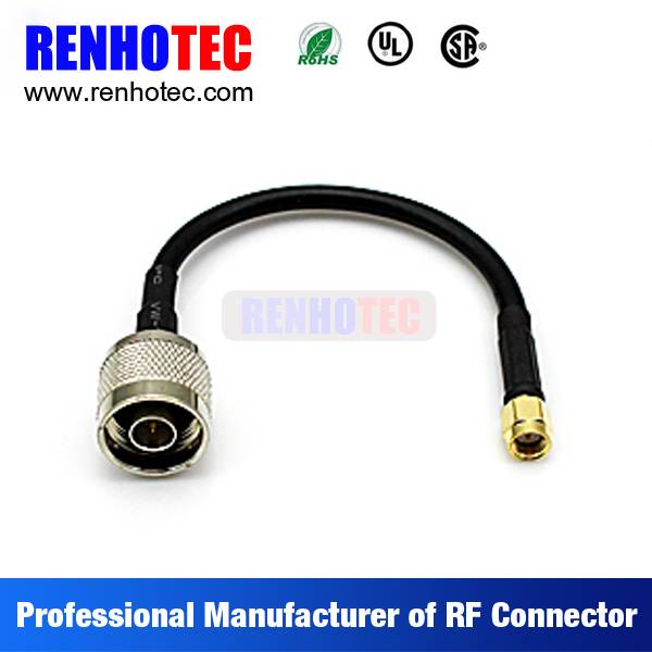 N to SMA Plug Coaxial Wire Connectors Custom Cable Assembly for RG58 RG59 RG174