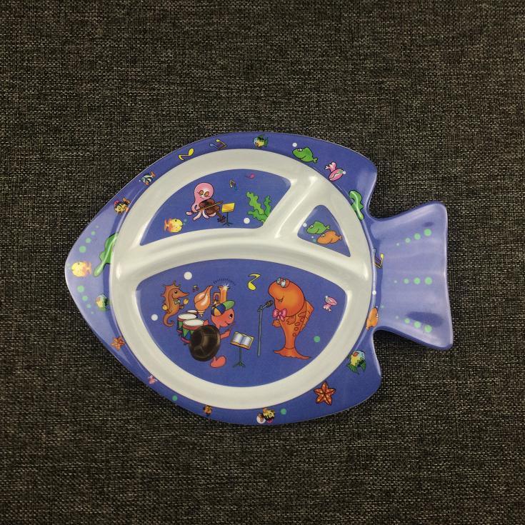 Fish shape melamine plate