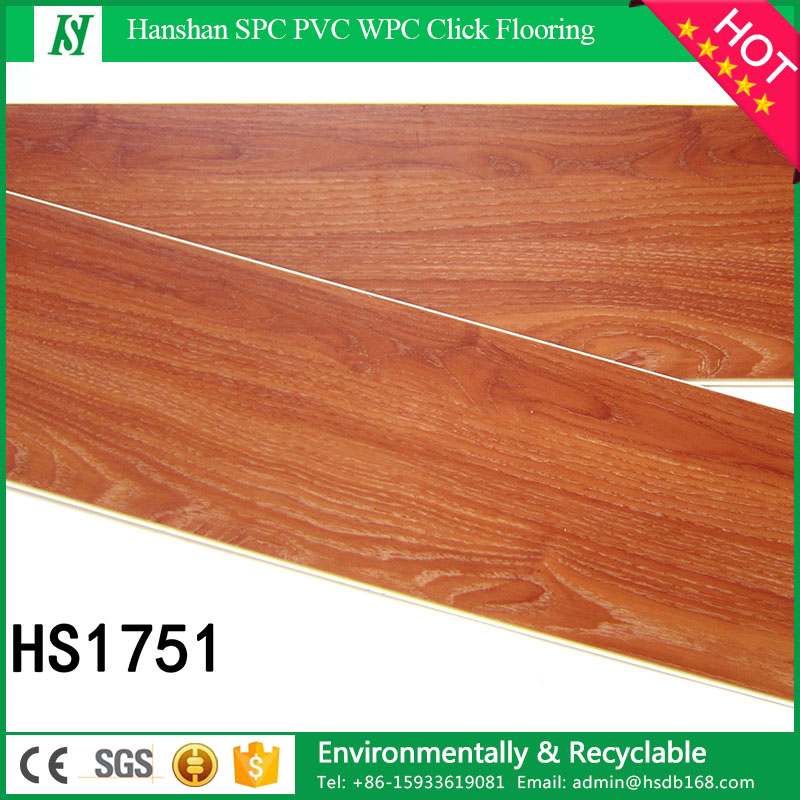Waterproof and fire proof non-slip eco wood look lvt commercial luxury click lock vinyl plank floor