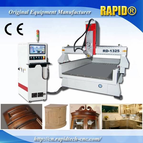 China Auto Tool Change Italy Hsd Spindle CNC Router 4 Axis Machine