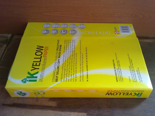 IK Yellow A4 copy paper for sale in Thailand