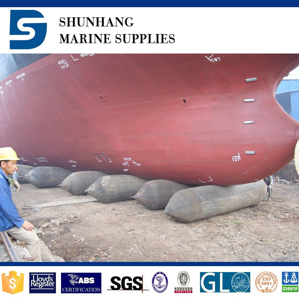 Inflatable dry dock rubber salvage ship airbag