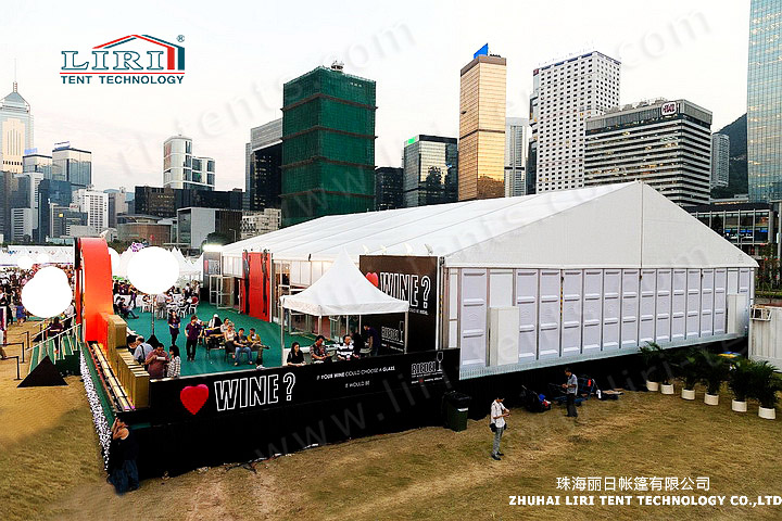 20x30m Party Tent with Hard ABS Wall for Outdoor Parties