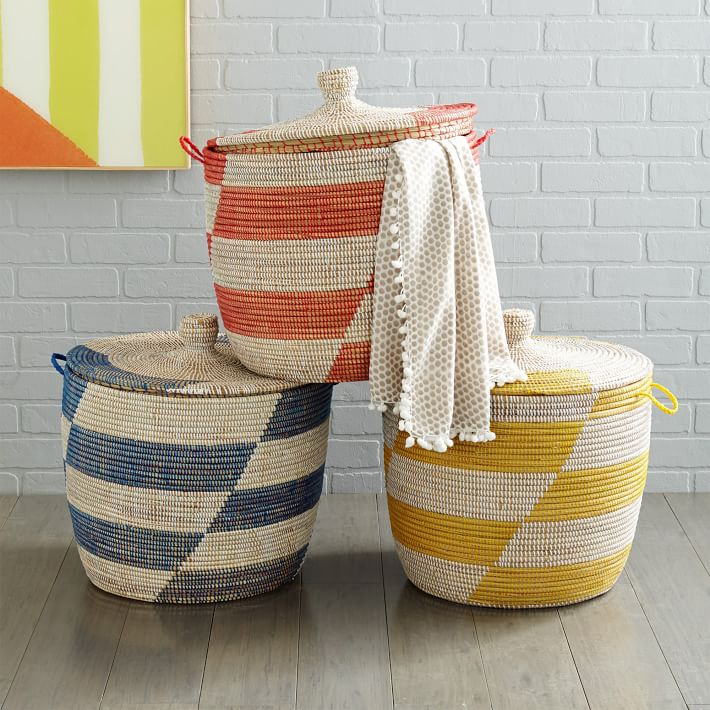 Best Selling Vietnam Handwoven Bamboo Rattan Seagrass Basket for Storage and Laundry Indoor