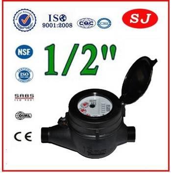 Multi Jet Dry Dial Plastic Water Meter LXSG-15S-50S