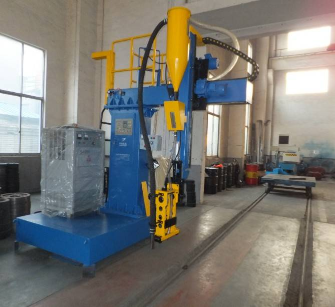 Column-beam type H-beam automatic welding machine