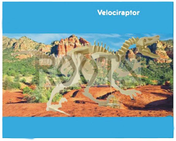 Velociratops-3D wooden puzzles, wooden construction kit,3d wooden models, 3d puzzle
