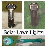 solar lawn lights - normal lawn lights