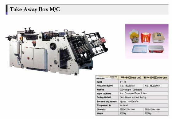 Take away & food pail box forming machine