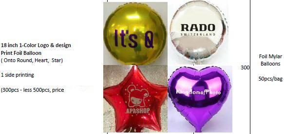 Offer Custom logo & design printing Helium Foil Mylar Balloons
