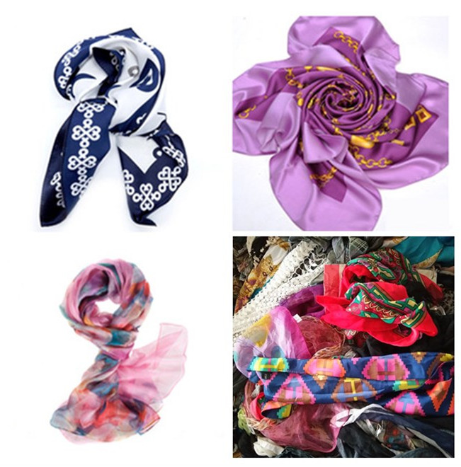 used silk scarf Grade A used clothes sale high quality second hand clothing