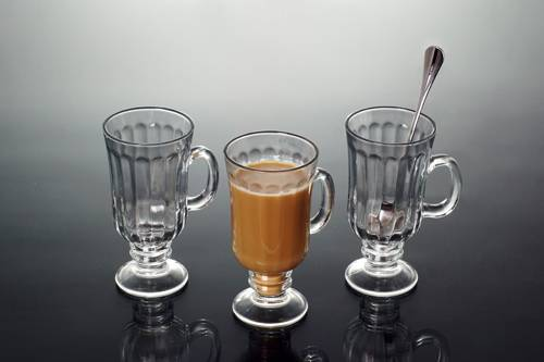 glass latte cup