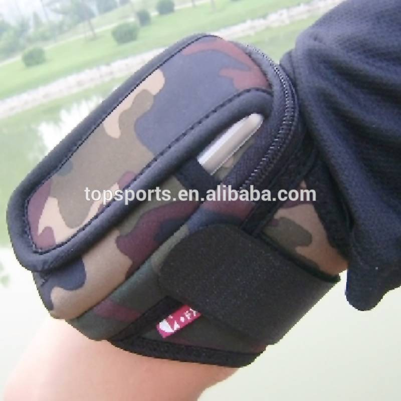 Adjustable sports neoprene armband for phone,different size mobile phone armband