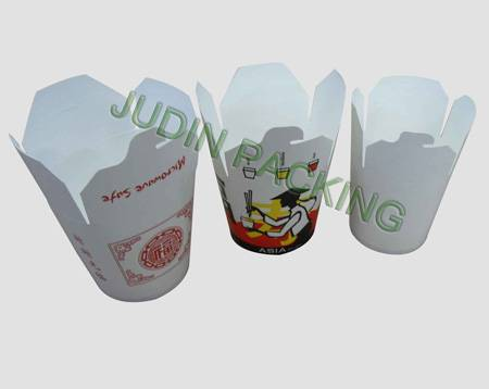 disposable printed food pail