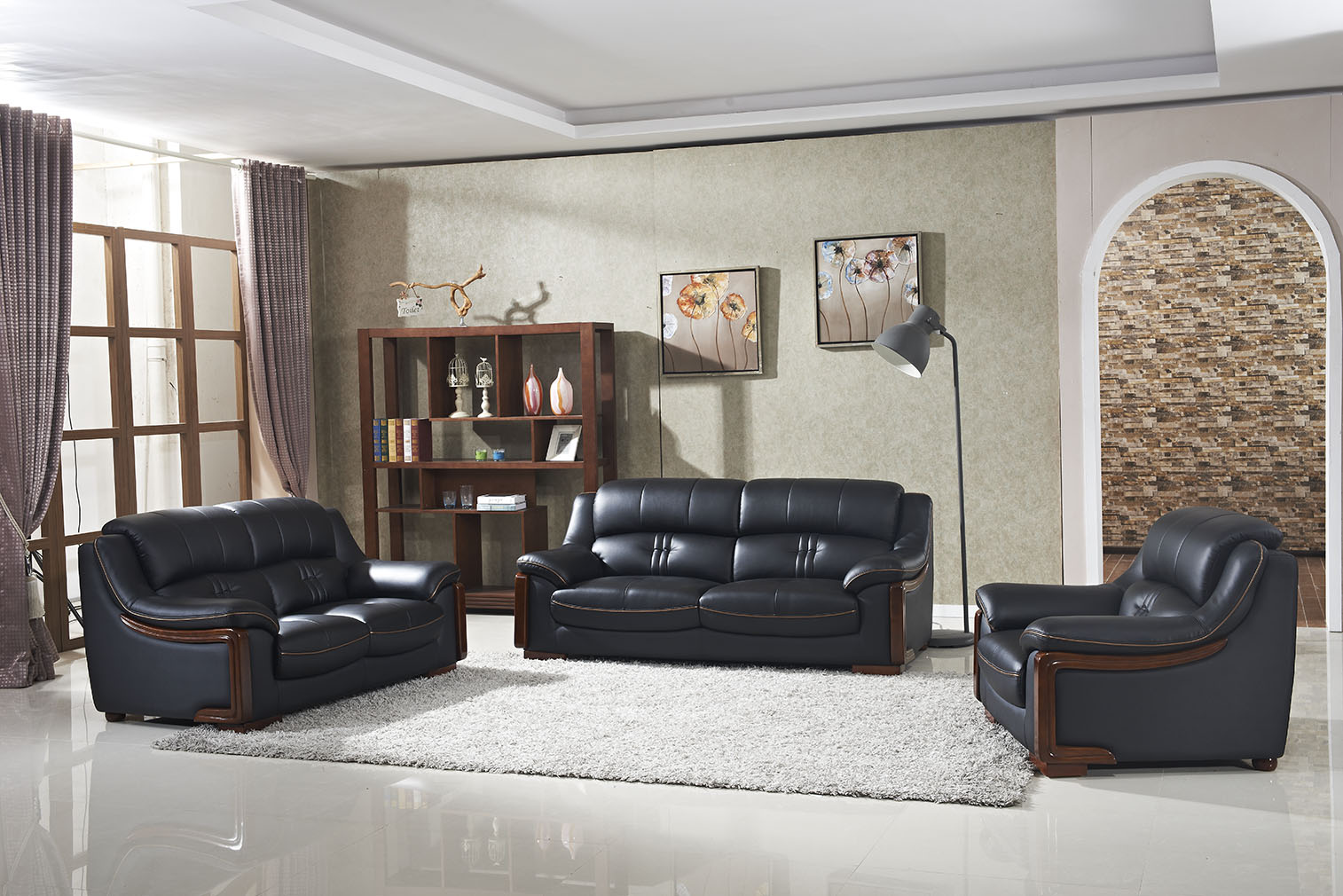 Modern Living Room Furniture Genuine Leather Sofa
