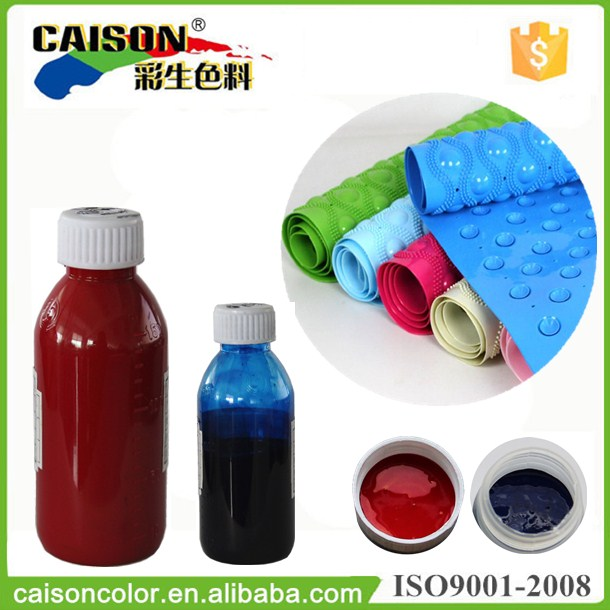 Aqueous pigment color dispersion for latex materials