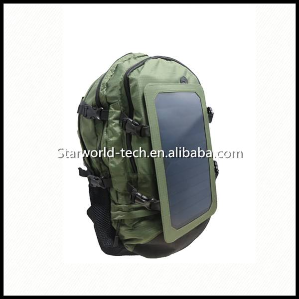 Customized Wholesale Waterproof Solar Panel Battery Charger BackpackPortable USB External Solar Batt