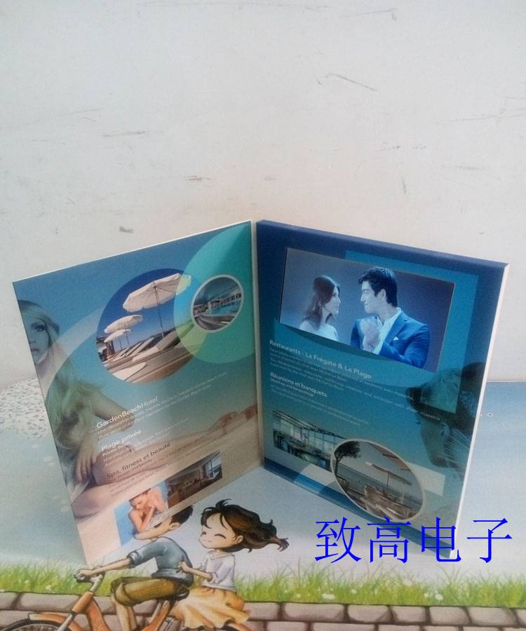 "5"" lcd vedio greeting card/promotional brochure/advertising brochure/wedding invitation card"