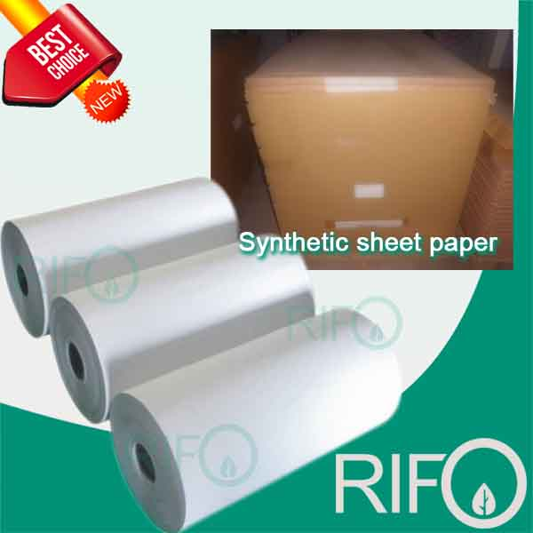 Flexographic Water/Grease Proof Pearl Synthetic Paper with RoHS MSDS