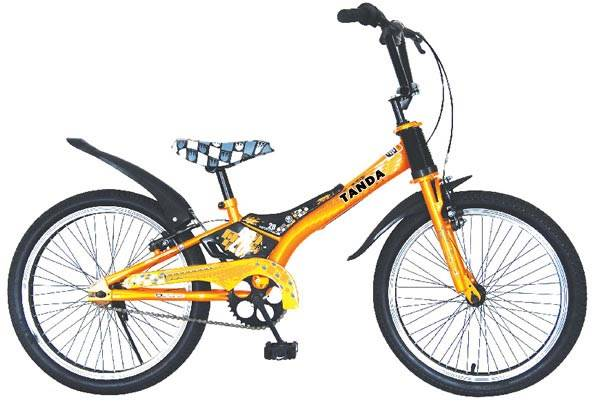 18-inch Child's City Bike with Strong CP Head Stem, Colorful Natural Rubber Tire