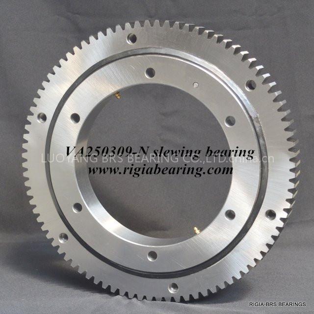 VA250309-N four point contact ball slewing bearing external gear teeth