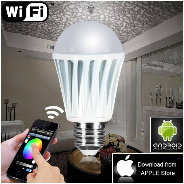 wireless mini rgb controller,smart RGBW led lights bulb with wifi control