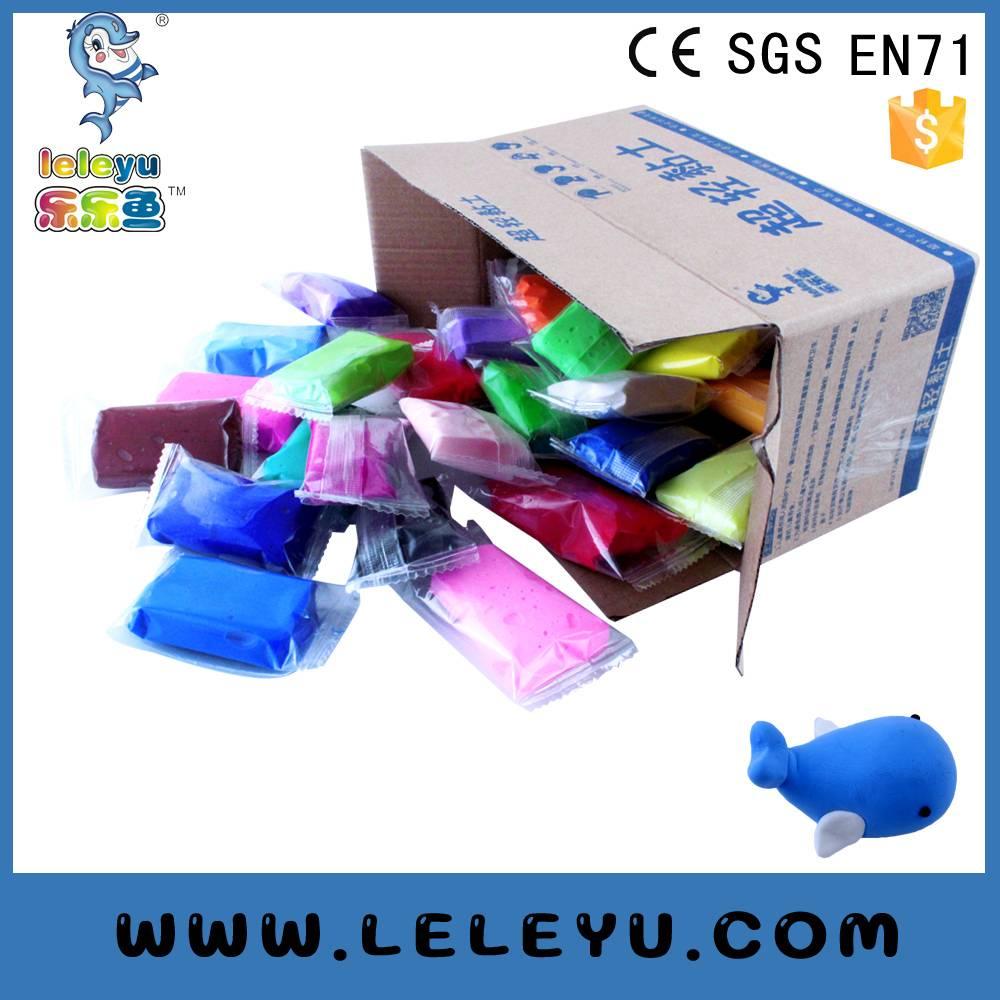 DIY educational super light playdough clay