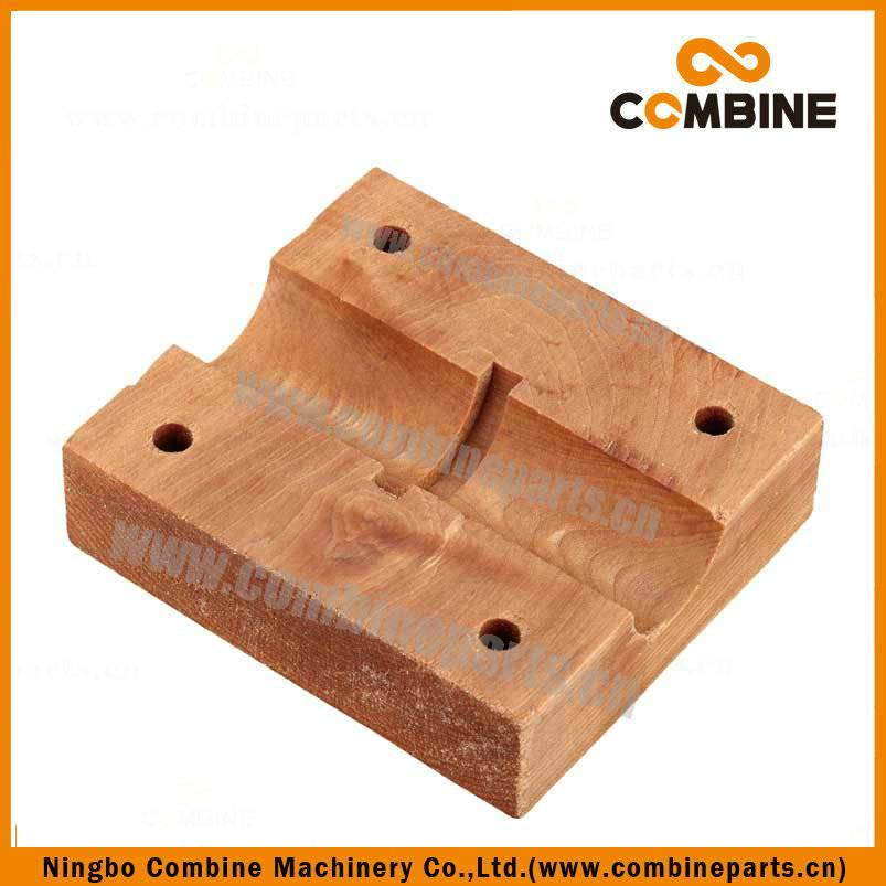Wood bearing block
