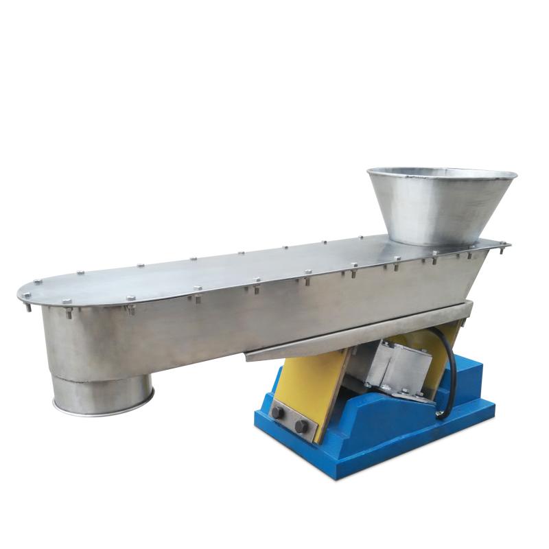 Portable rice sugar powder granule processing Tiny electromagnetic line vibrating hopper feeder