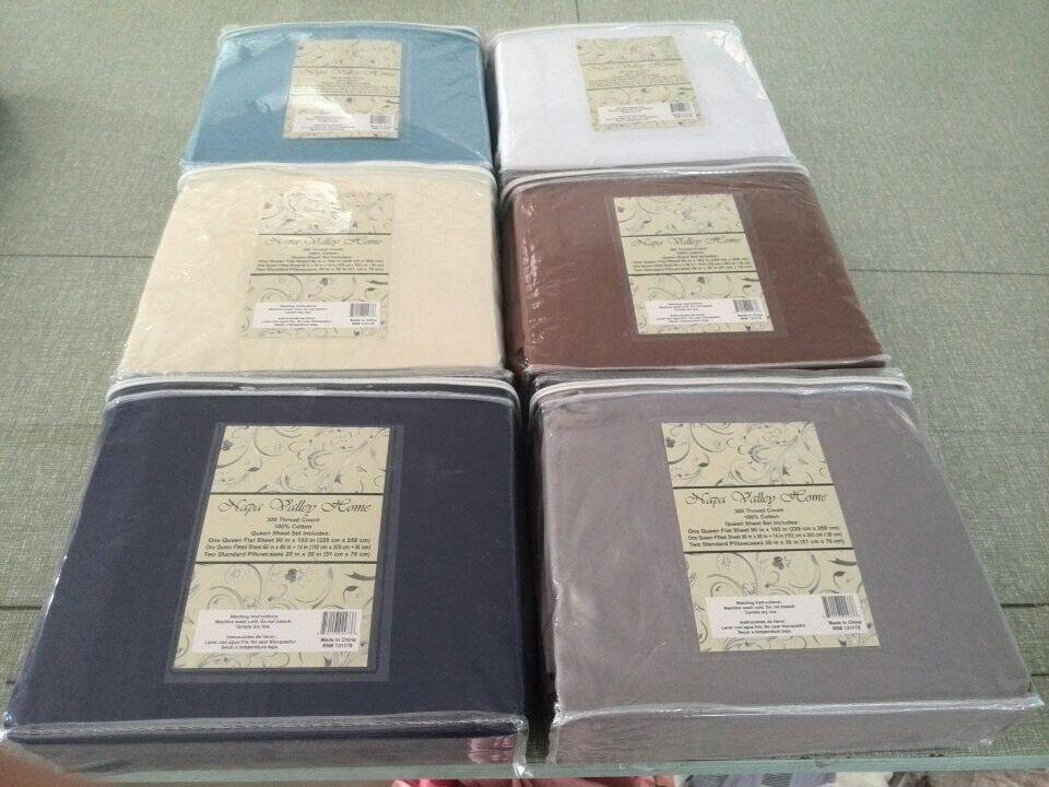 100% cotton 200T  bedding set from stock fabric