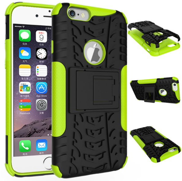 Phone Case for iPhone 6 Plus 6s Plus Hybrid Rugged PC +TPU Kickstand Shockproof