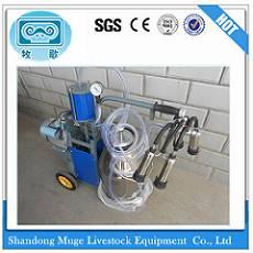 Vacuum Pump Double bucket Cow Milking Machine with Pneumatic Pulsator