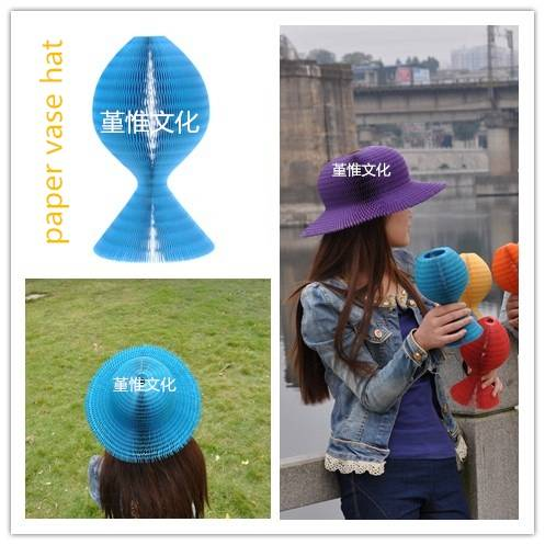 Blue Paper Hat , lovely and funny hat for children and women in home decoration