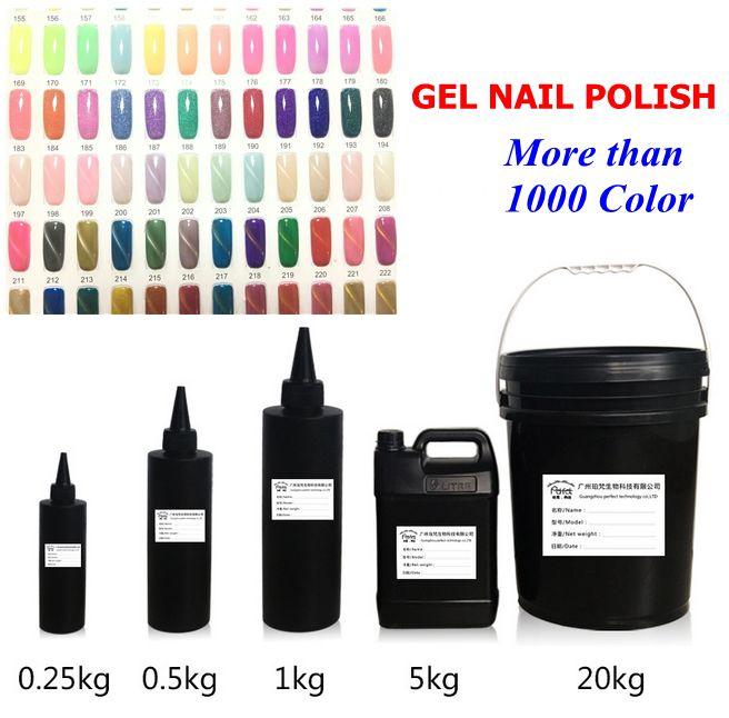 Factory Nail Primer UV/LED Colorful series Gel Nail Polish Multi-Color Soak-Off Nail Polish 1kg 5kg