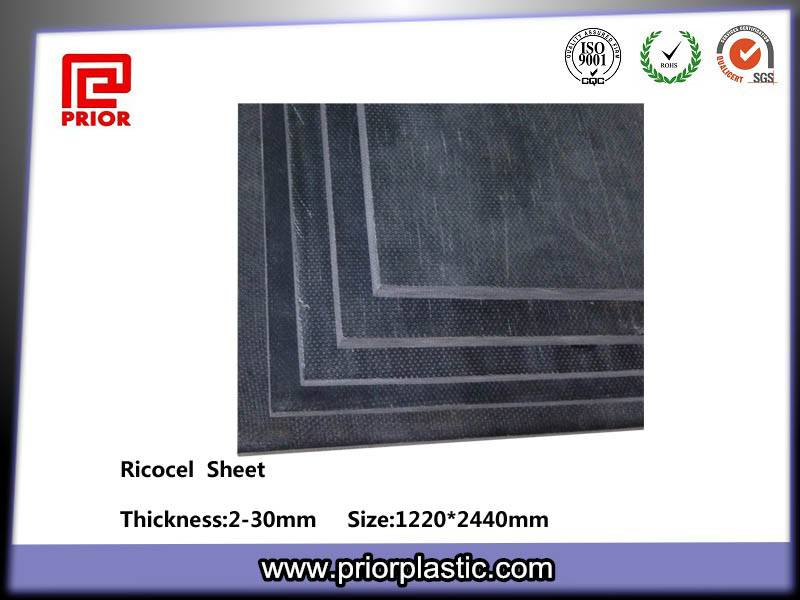 Prior Plastic Black Ricocel Es-3261A Sheet