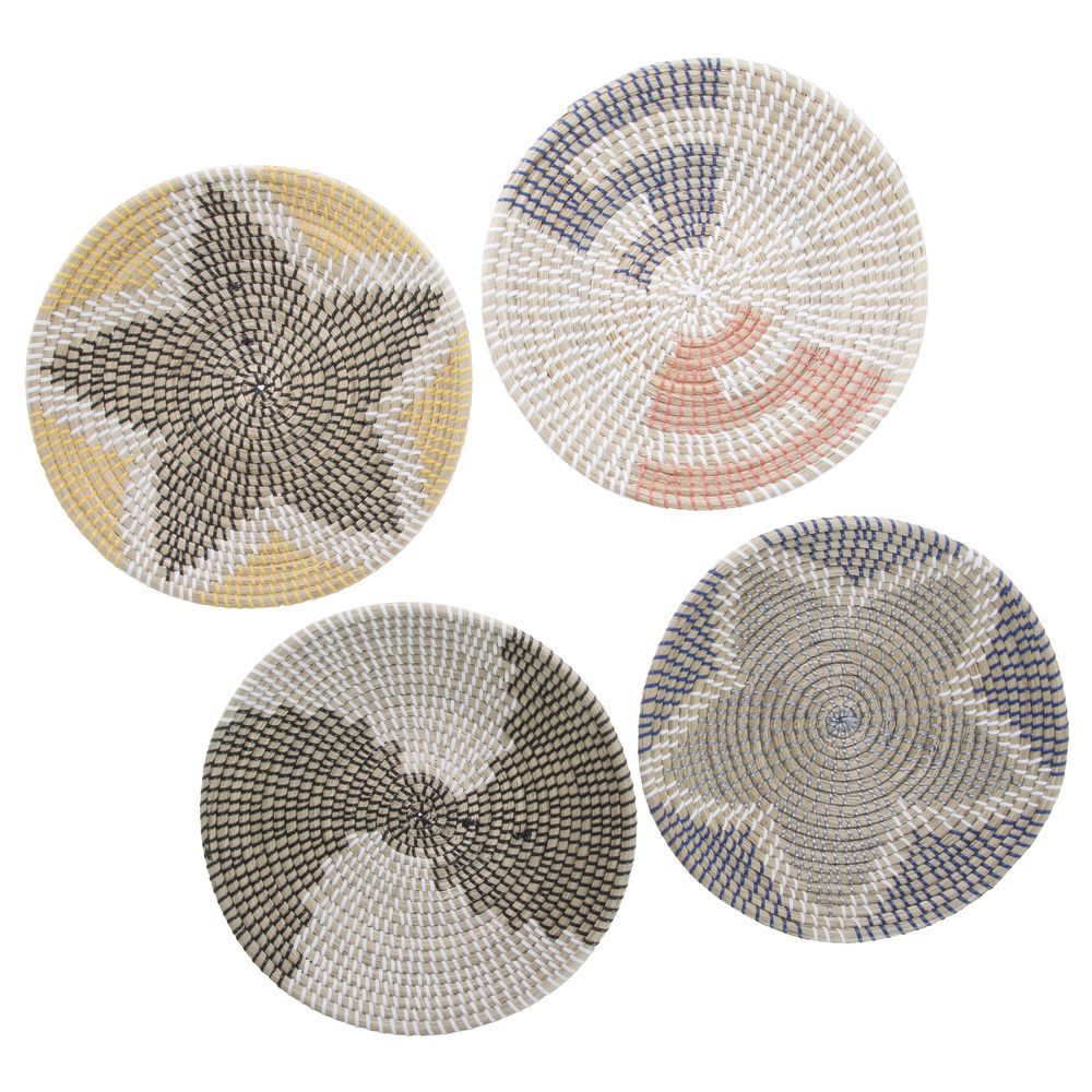 Seagrass placemats wall decoration plates