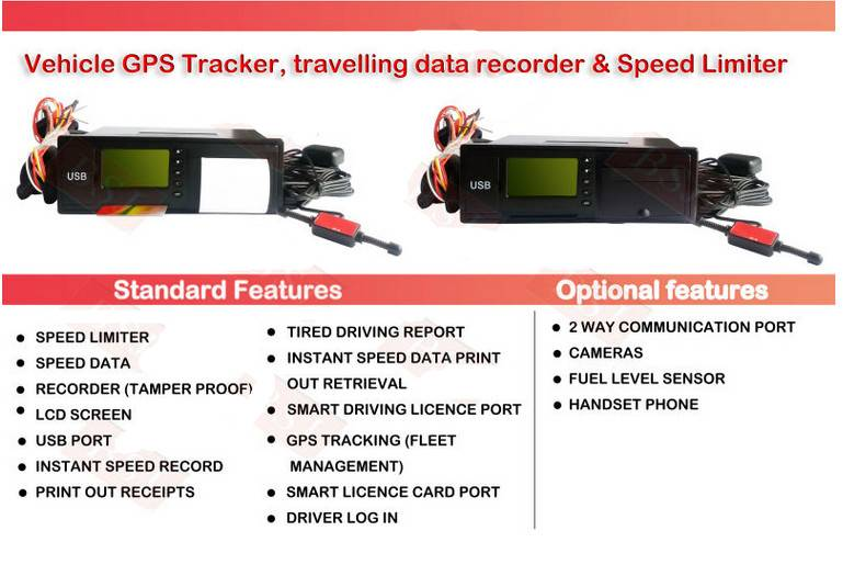 speed governor gps tracker vehicle tachograph