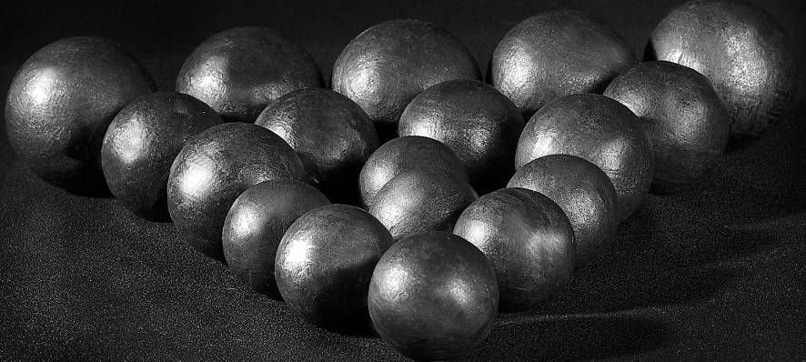 Stell grinding balls 25 mm-120 mm HB 55-65