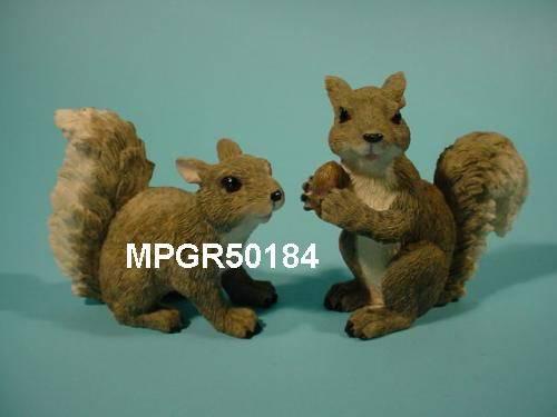 Polyresin Garden Squirrel crafts, garden squirrel