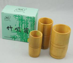 Chinese cupping set 3 cups traditional Bamboo Cups set