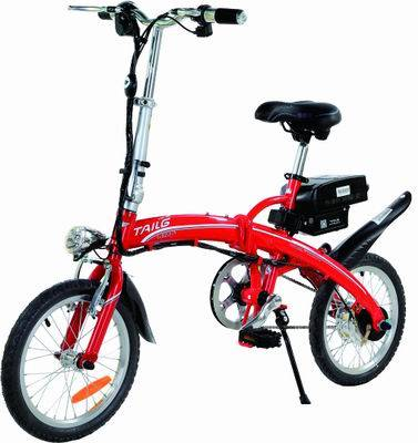"""16"""" mini folding Lithium battery electric bicycle tailg electric bike"""