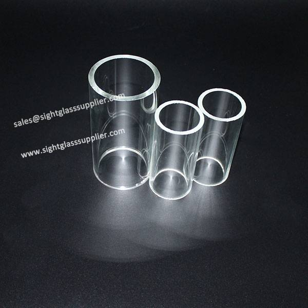 size accurate customized borosilicate tempered glass tube