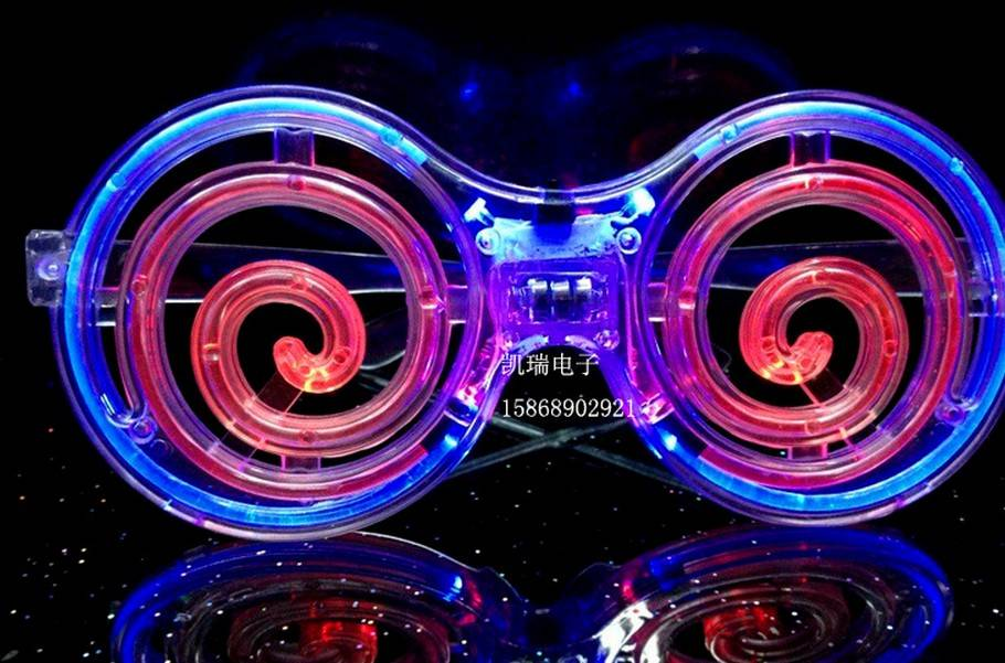 christmas toy LED glasses round carnival festival holiday supplies party decoration luminous christm
