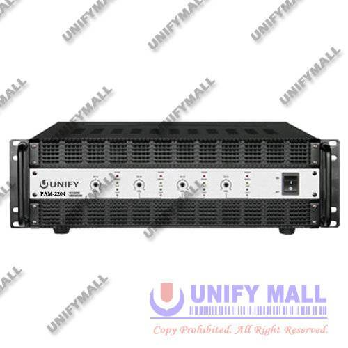 UNIFY REV-PAM2204 4-Channel 2x200W+2x200W Power Amplifier